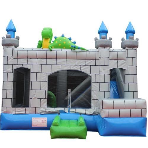 Acquista il castello gonfiabile con scivolo Drago-7
