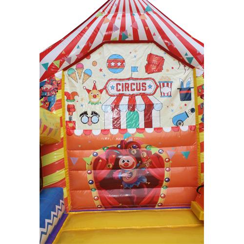 Acquista il gonfiabile con scivolo Circo