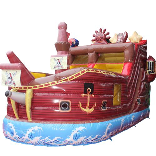 Acquista il gonfiabile con scivolo Nave dei pirati