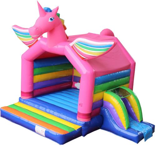 Acquista il gonfiabile con scivolo Unicorno