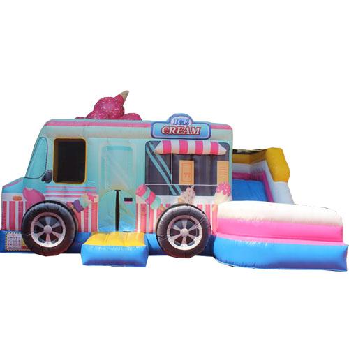 Acquista il gonfiabile Icecream Truck con Scivolo-2
