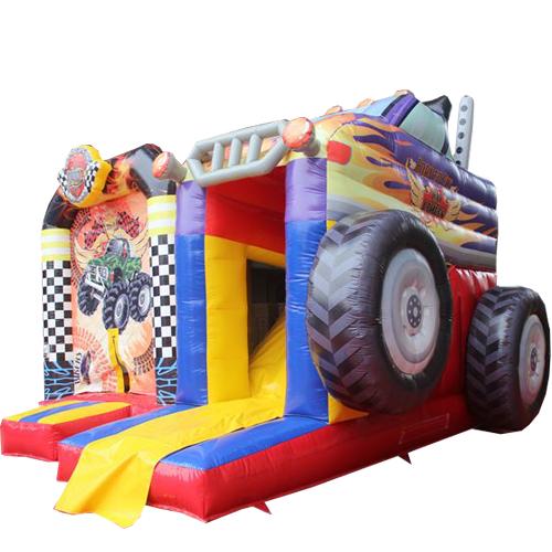 Acquista il gonfiabile Monster Truck con Scivolo